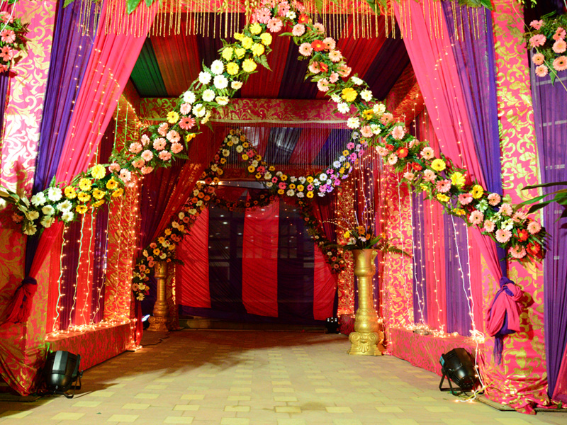 Wedding Stage Flower Tent Decoration Catering In Palampur